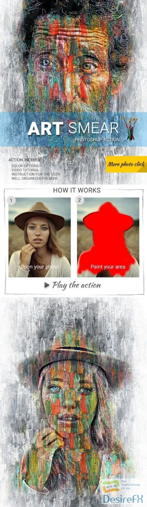 actions-atn - Art smear Photoshop Action