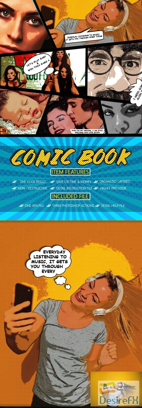 after-effects-projects - Comic Book Photoshop Action 22908999