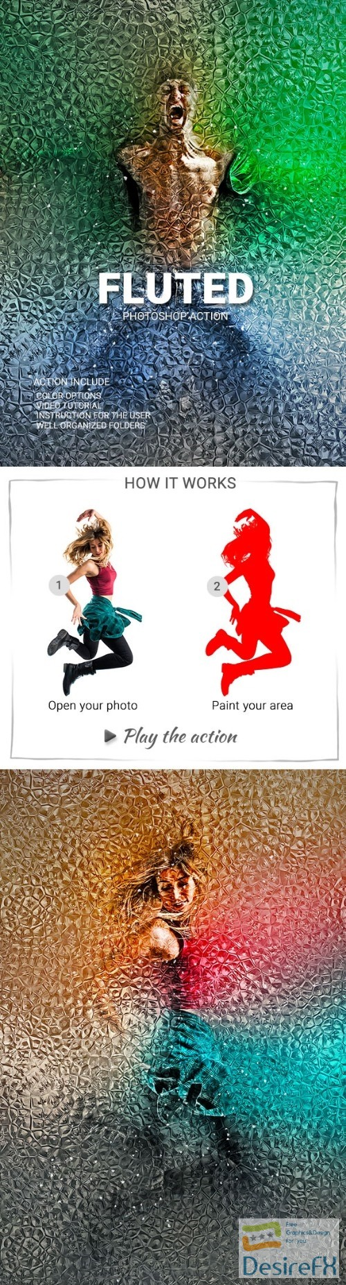 actions-atn - Fluted Photoshop Action 22910346