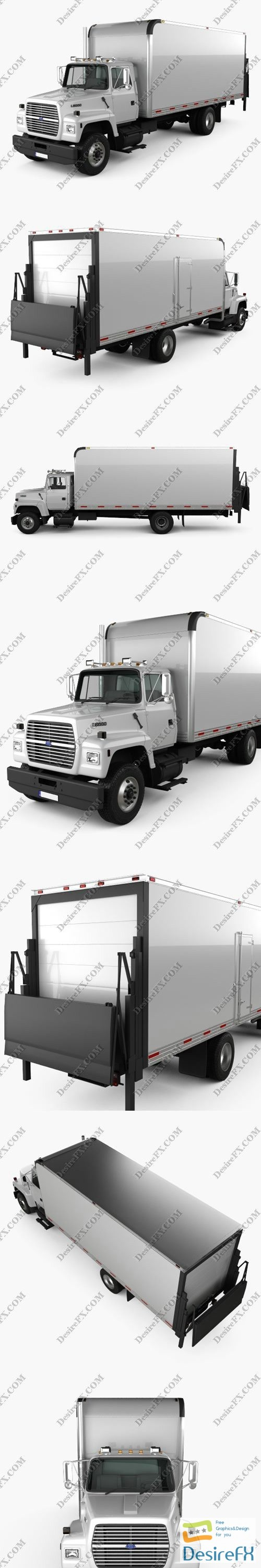 3d-models - Ford LN8000 Box Truck 1995 3D Model