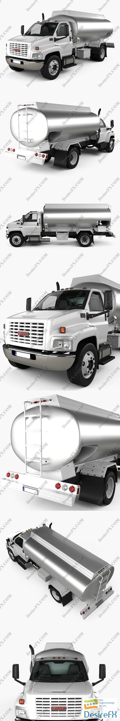 3d-models - GMC Topkick C8500 Regular Cab Tanker Truck 2004 3D Model