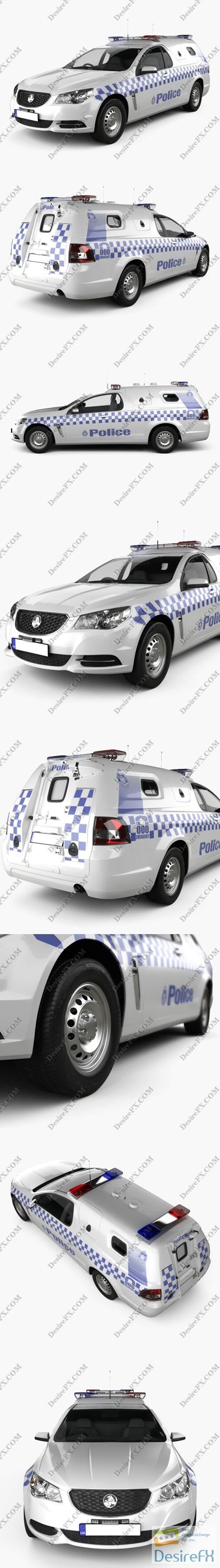 3d-models - Holden Commodore ute Evoke Police 2013 3D Model