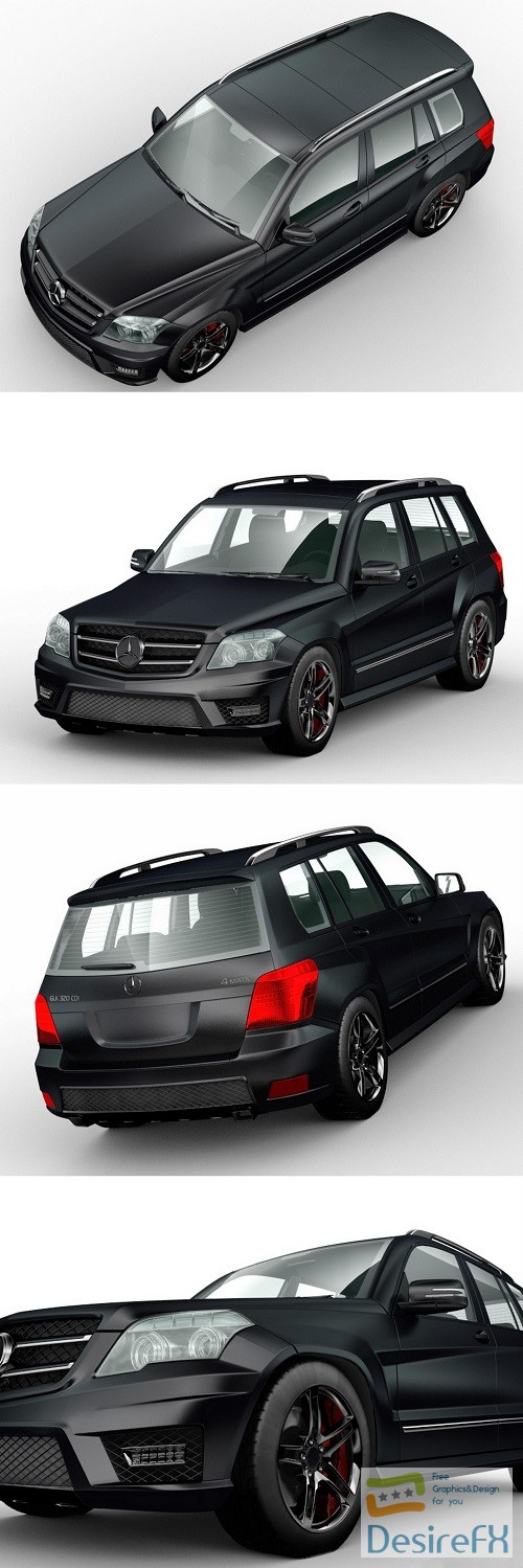 3d-models - Mercedes-Benz GLK 3D Model