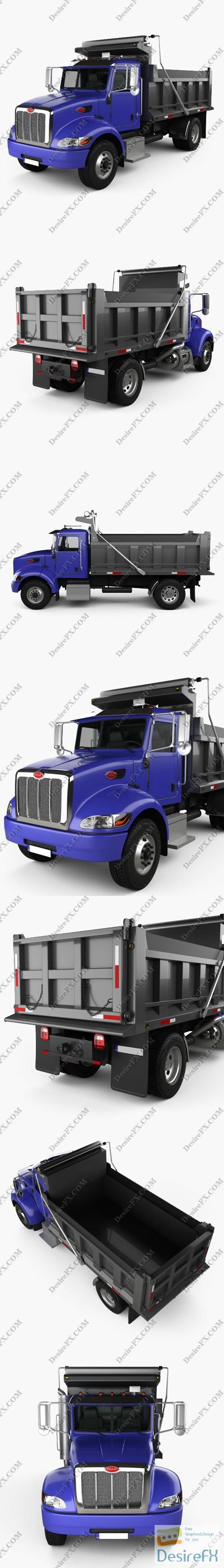 3d-models - Peterbilt 340 Dump Truck 2009 3D Model