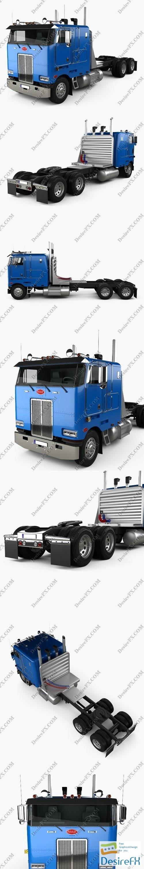 3d-models - Peterbilt 362 Tractor Truck 2002 3D Model