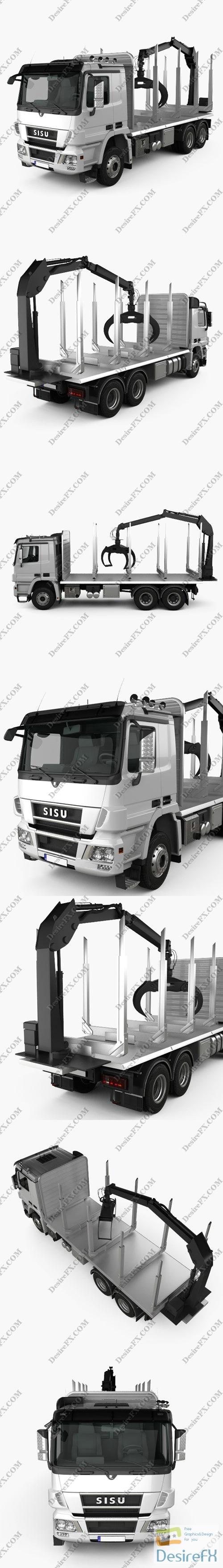 3d-models - Sisu Polar Logging Truck 2010 3D Model