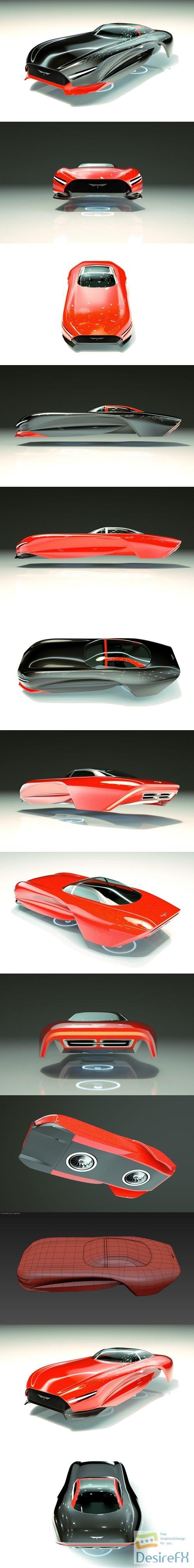 3d-models - Cheap & Cool T-Hover Car 17 3D Model