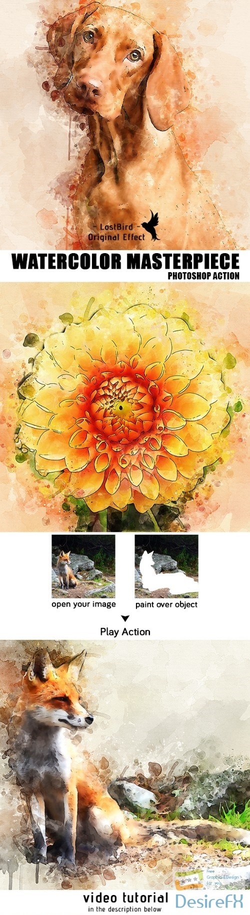 actions-atn - Watercolor Masterpiece - Photoshop Action 22921333
