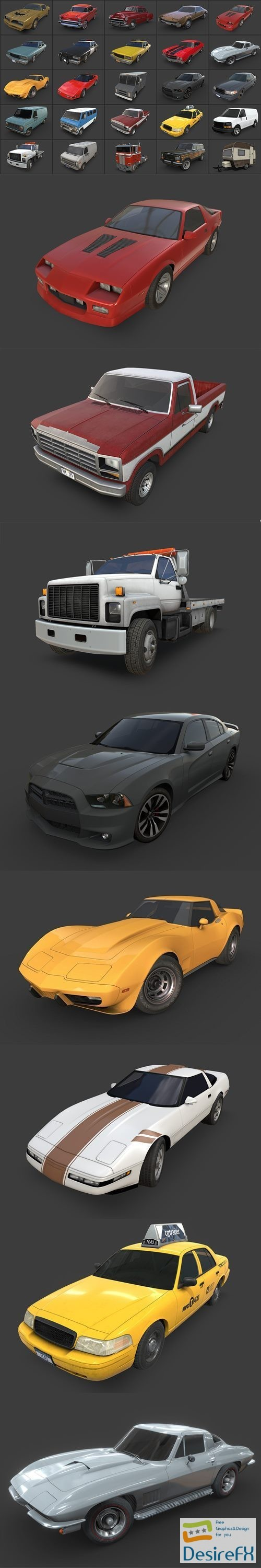 3d-models - American Cars Ultimate Collection 3D Models