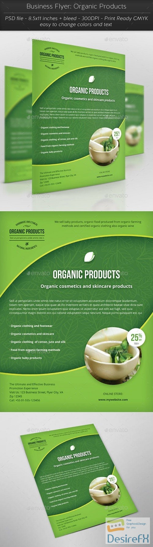 Business Flyer: Organic Products 16368010