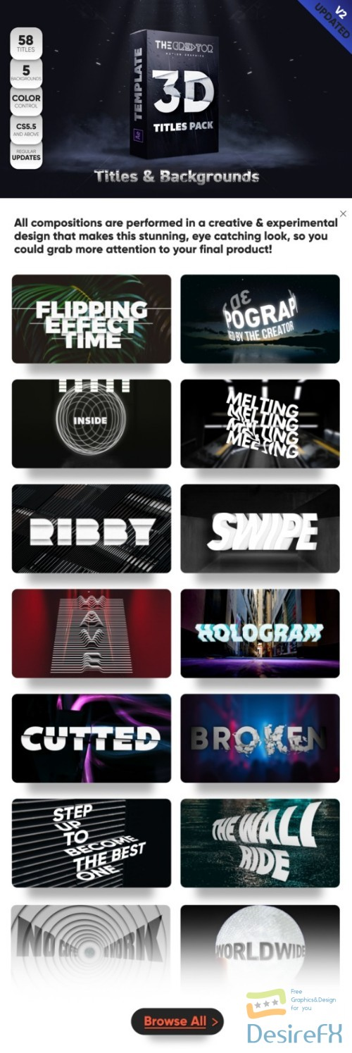 after-effects-projects - Videohive 3D Titles Pack 22808767