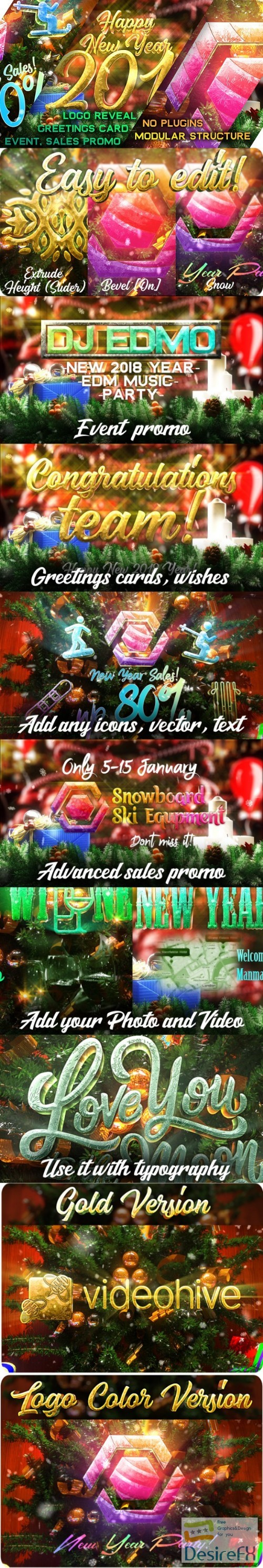 after-effects-projects - Videohive New Year Pack - Logo Reveal, Sale and Event Promo 21121532