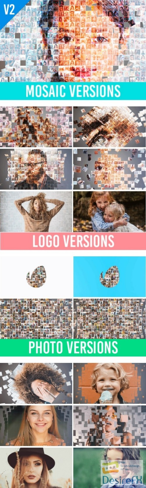 after-effects-projects - Videohive Mosaic Photo Animation Pro II 22566185