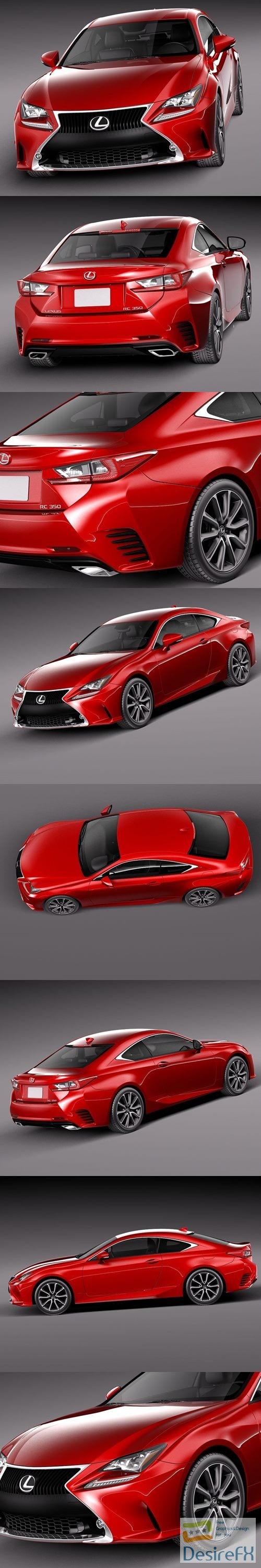 Lexus RC 2015 3D Model