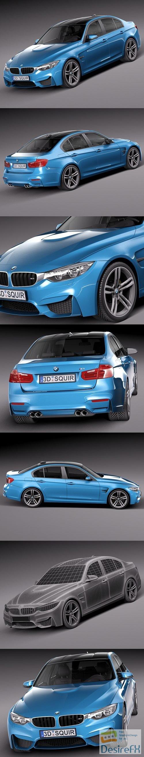 3d-models - BMW M3 F30 Sedan 2015 3D Model
