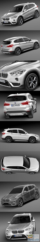 3d-models - BMW X1 2016 3D Model