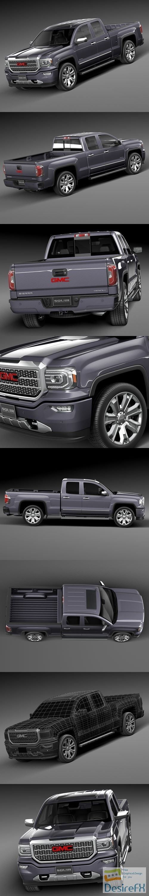 3d-models - GMC Sierra Denali 2016 3D Model