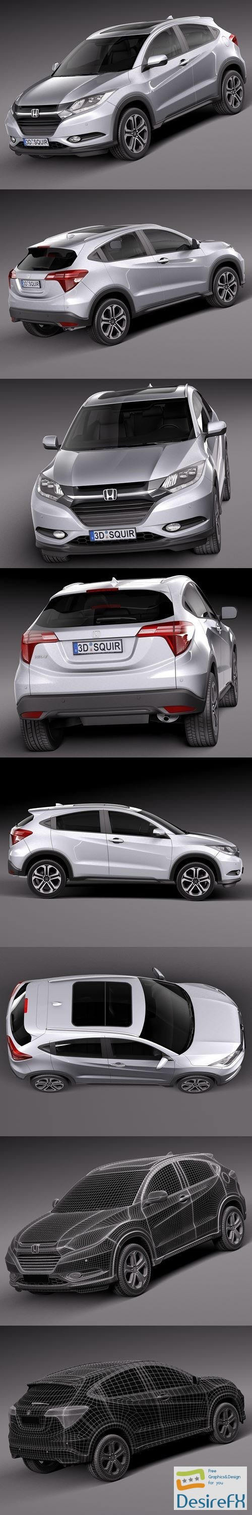 3d-models - Honda HR-V EU 2016 3D Model