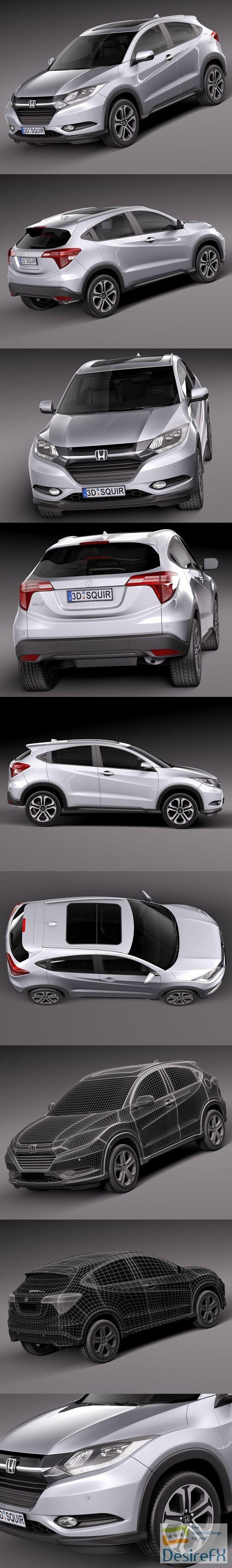 3d-models - Honda HR-V EU 2016 3D Model
