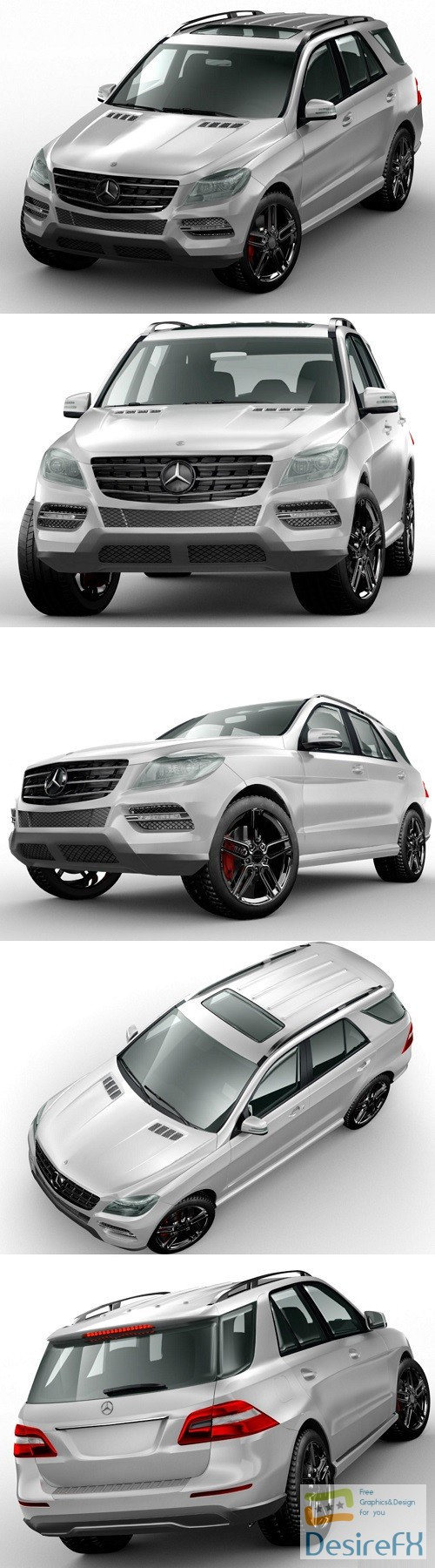 3d-models - Mercedes-Benz ML350 AMG 3D Model
