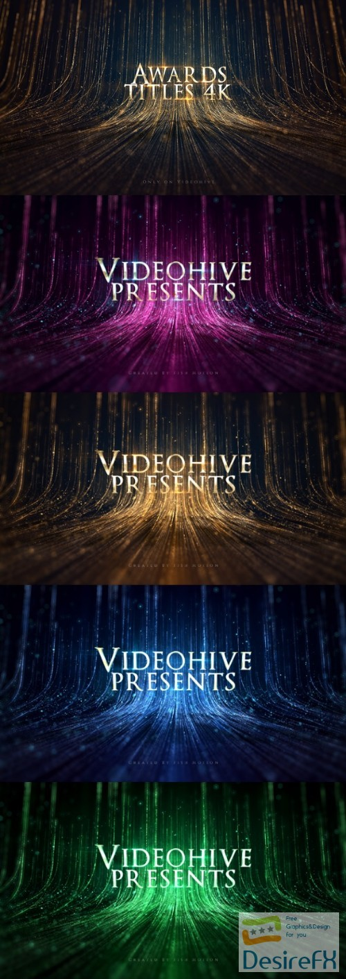 after-effects-projects - Videohive Awards Titles 4K and Awards Background Loop 4K 22399668