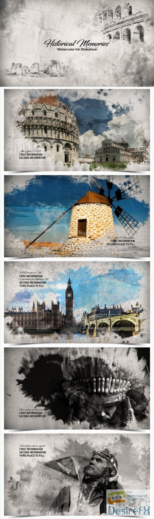after-effects-projects - Videohive Historical Memories // Watercolor Ink Slideshow 18404158