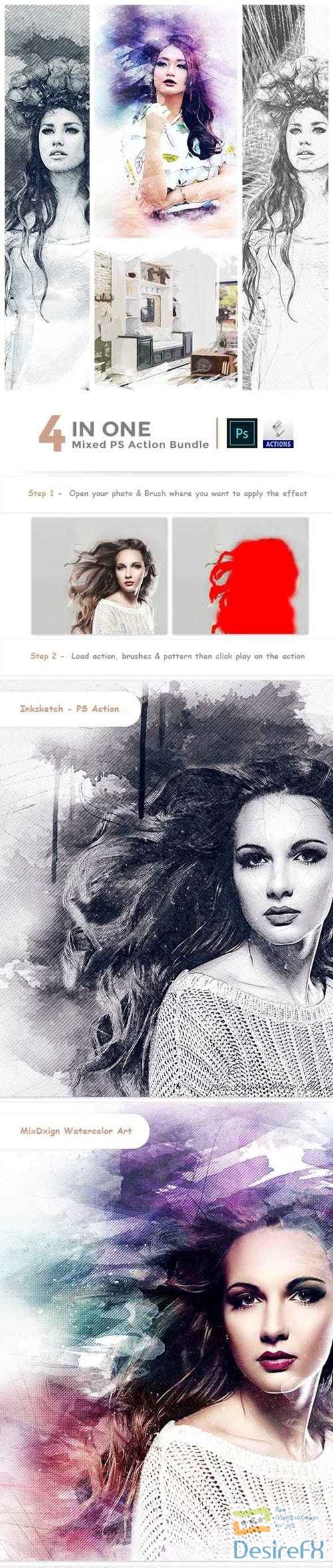 actions-atn - GraphicRiver - 4 in One Mixed PS Action Bundle 23071832