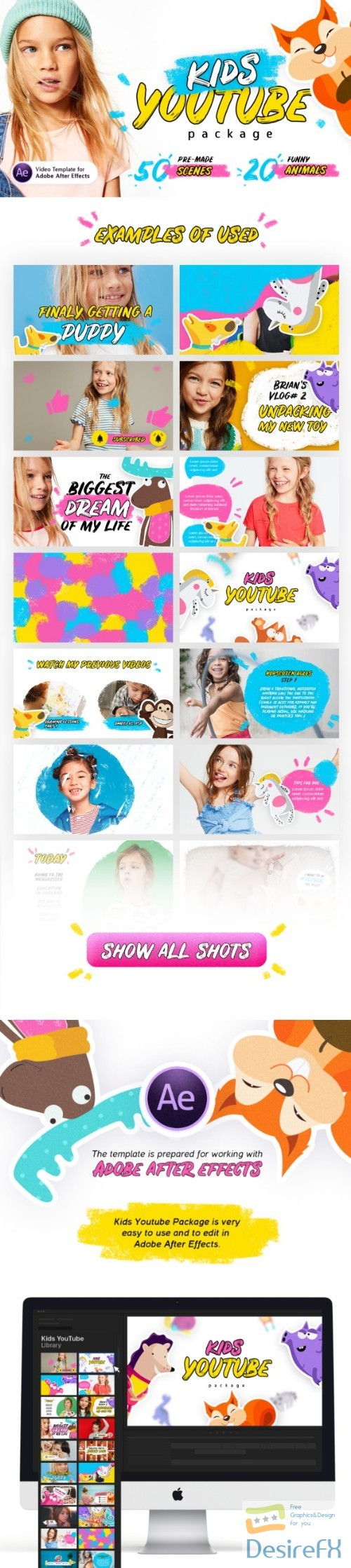 after-effects-projects - Videohive Kids Youtube Package | For Ae V.1.3 22298286