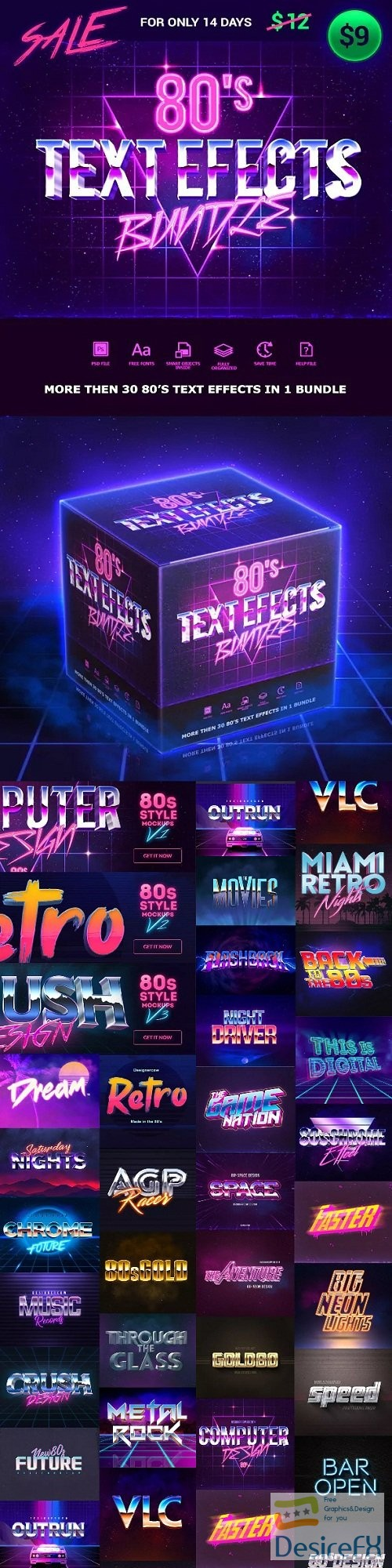 layered-psd - 80s Text Effects Bundle - 23228725