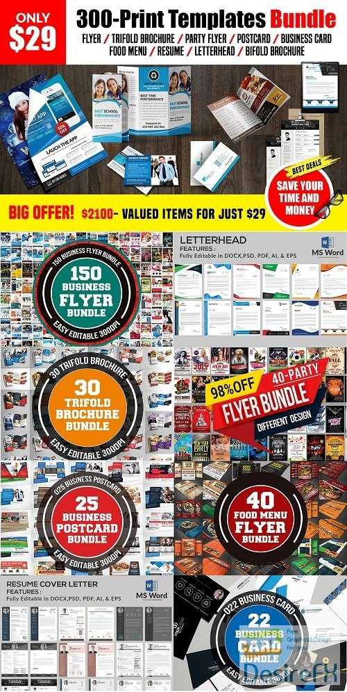 photoshop - 300-Print Templates bundle 3221965