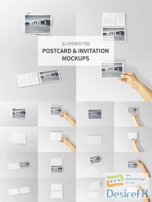 mock-up - Postcard & Invitation Mockups 2464035