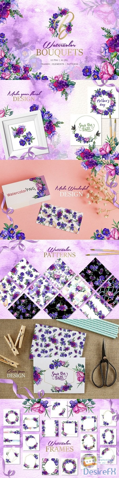 Bouquets of purple flowers - 3451531