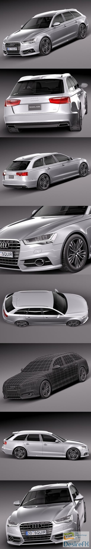 3d-models - Audi A6 Avant 2015 3D Model