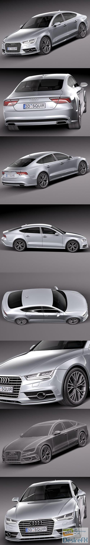 3d-models - Audi A7 2015 3D Model