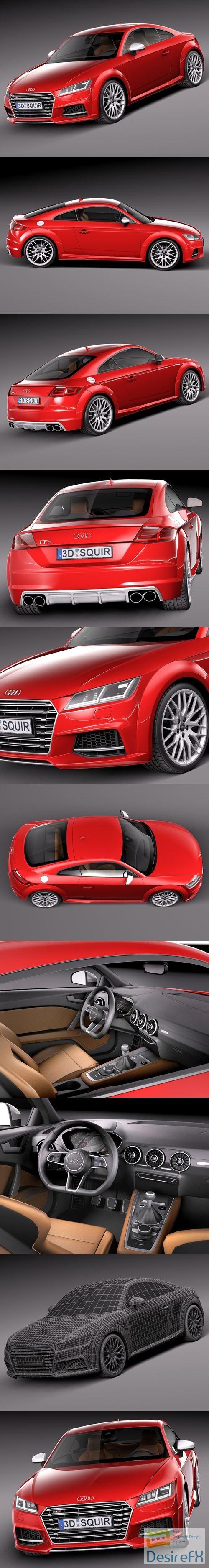 3d-models - Audi TTS Coupe 2015 3D Model