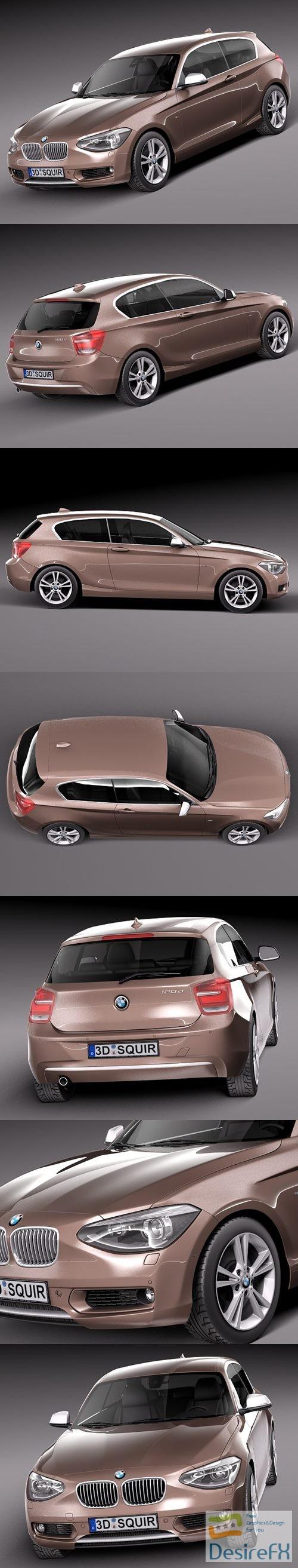 3d-models - BMW 1 3door 2013 3D Model