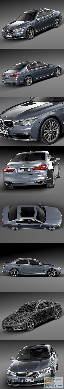 BMW 7-series G11 2016 3D Model