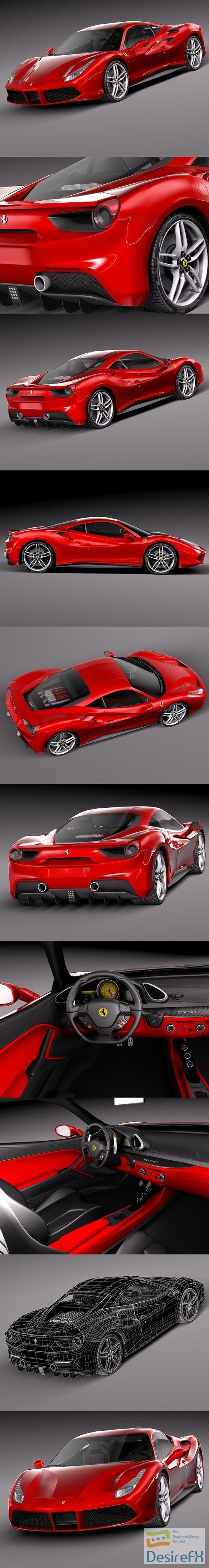 3d-models - Ferrari 488 GTB 2016 3D Model