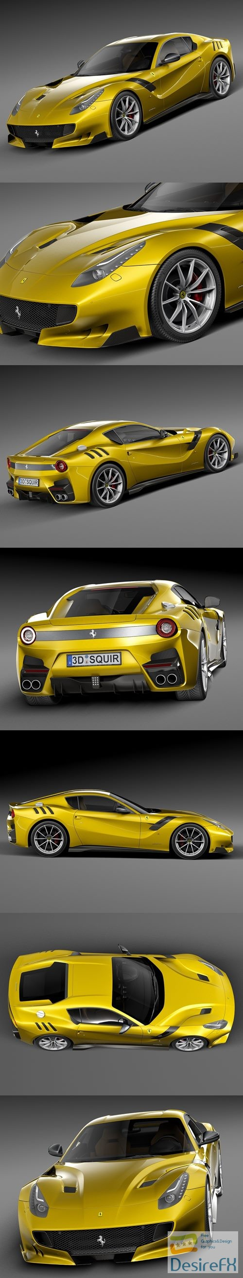 3d-models - Ferrari F12tdf 2016 3D Model