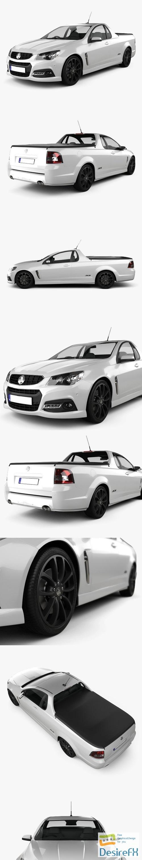 3d-models - Holden VF Commodore Calais V UTE 2013 3D Model