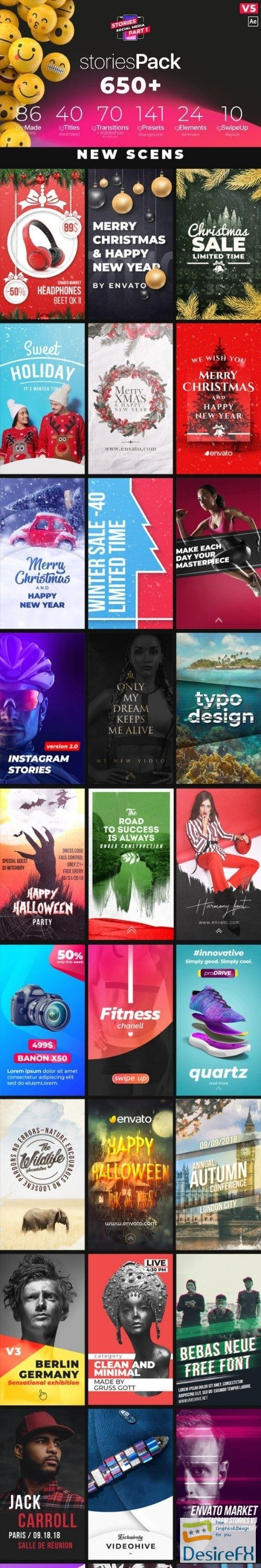 after-effects-projects - Videohive Instagram Stories V5 21895564