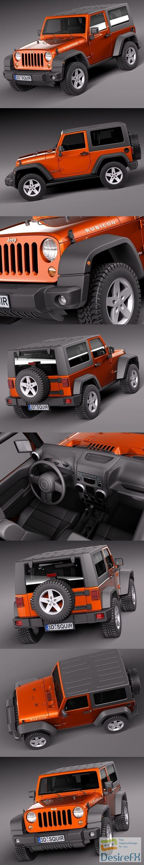 3d-models - Jeep Wrangler Rubicon 2012 3D Model