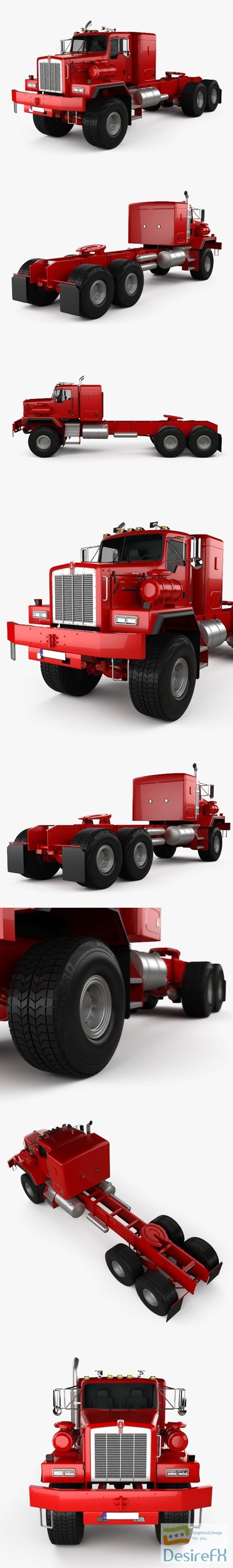 Kenworth C500 Tractor Truck 2001 3D Model