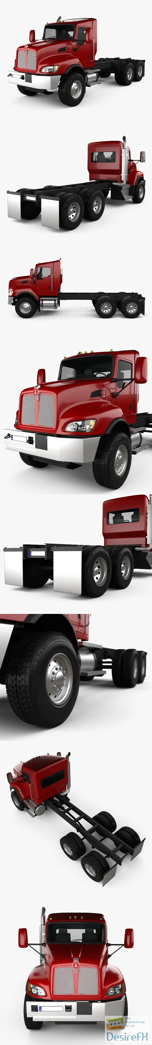 3d-models - Kenworth T470 Chassis Truck 3-axle 2009 3D Model
