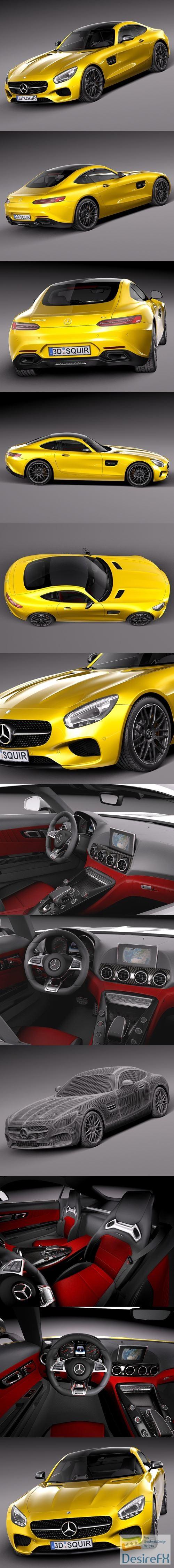 Mercedes-Benz AMG GT S 2016 3D Model