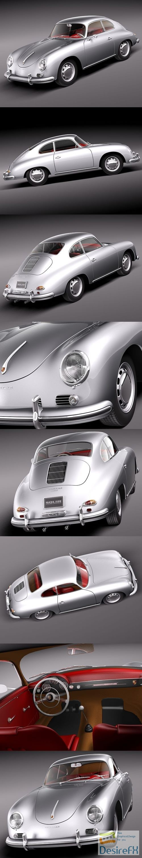 Porsche 356A Coupe 1955 3D Model