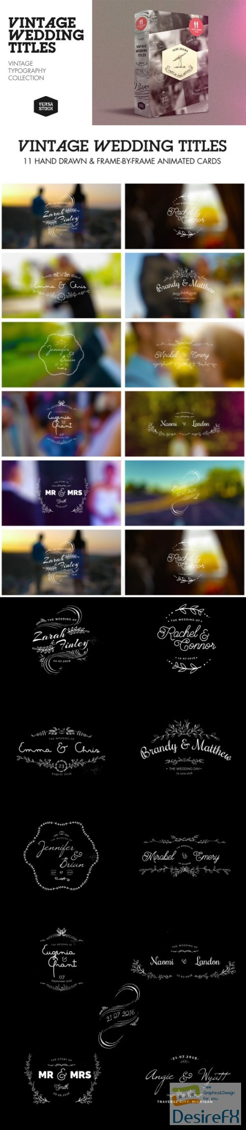 after-effects-projects - Videohive Vintage Wedding Titles 14737269