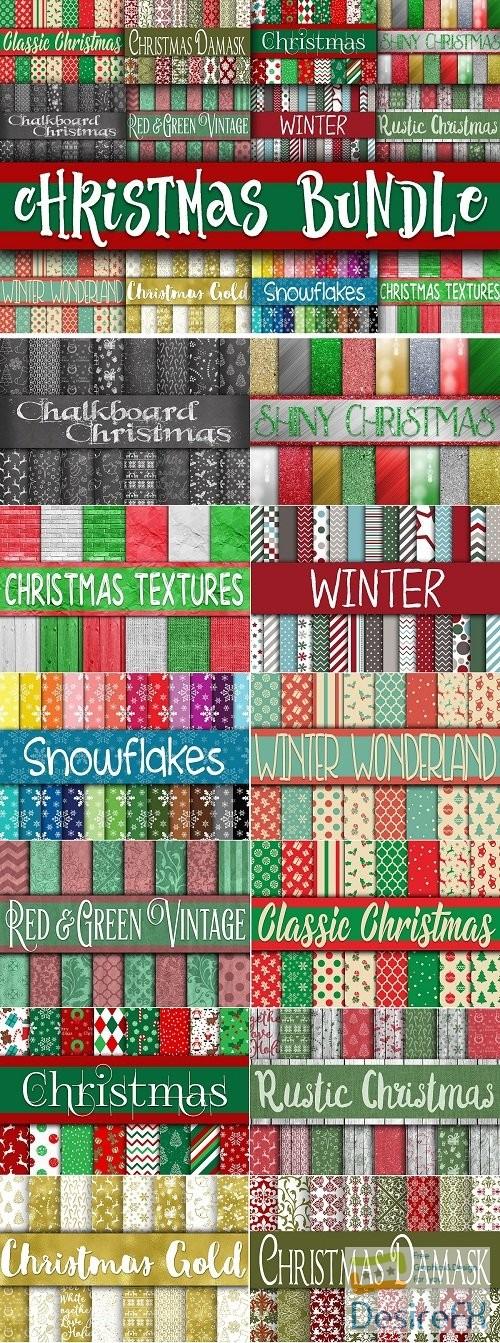 stock-images - Christmas Digital Paper Bundle - 2827412