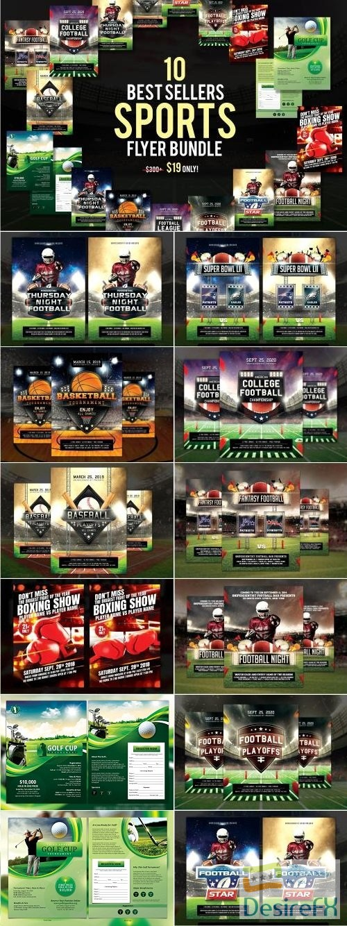 layered-psd - 10 Best Sellers Sports Flyer Bundle - 3152664