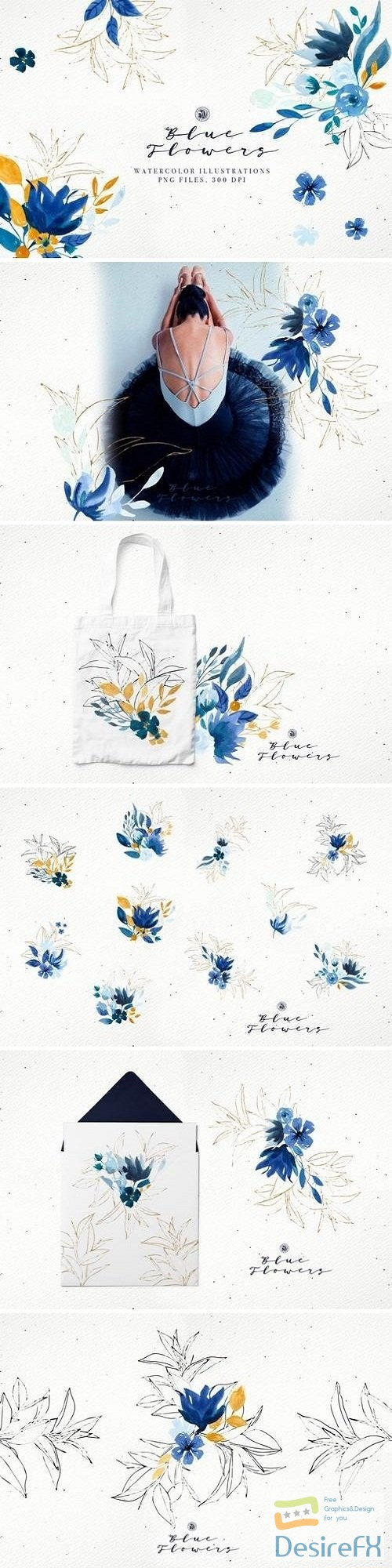 photoshop - Blue Flowers - 3468058